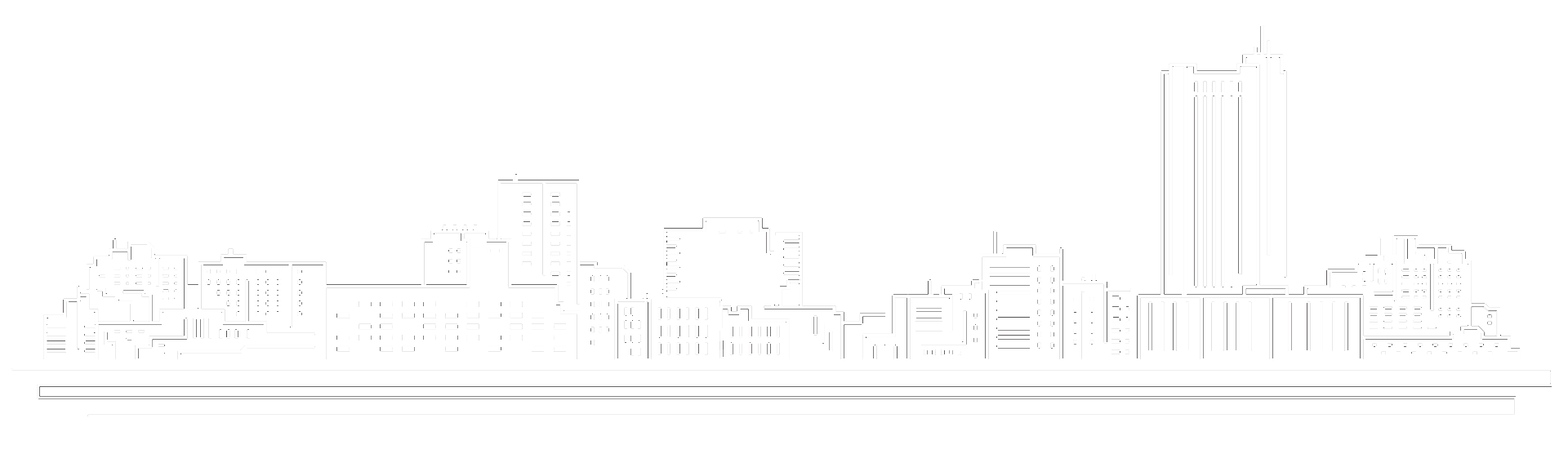 Amarillo Skyline white lined graphic